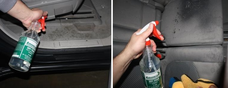 Spray Lane's Dry Foam to Clean Upholstery and Carpets