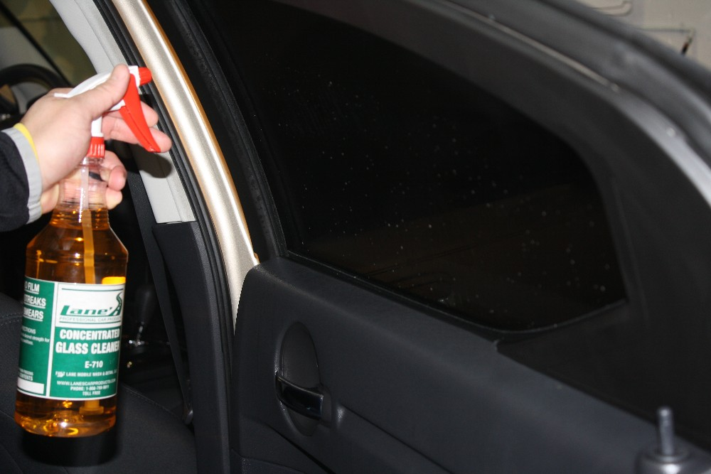 Use Glass Cleaner on Tinted Window