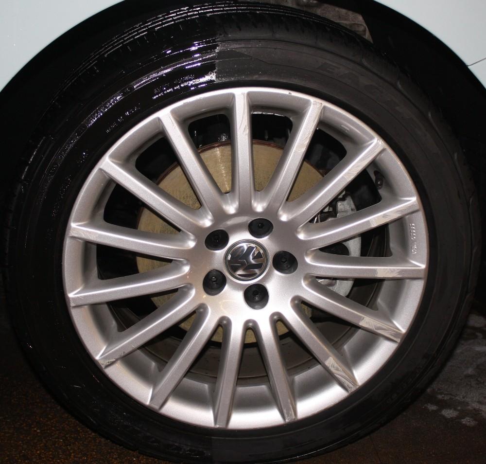 Shined Tire vs. Unshined Tire