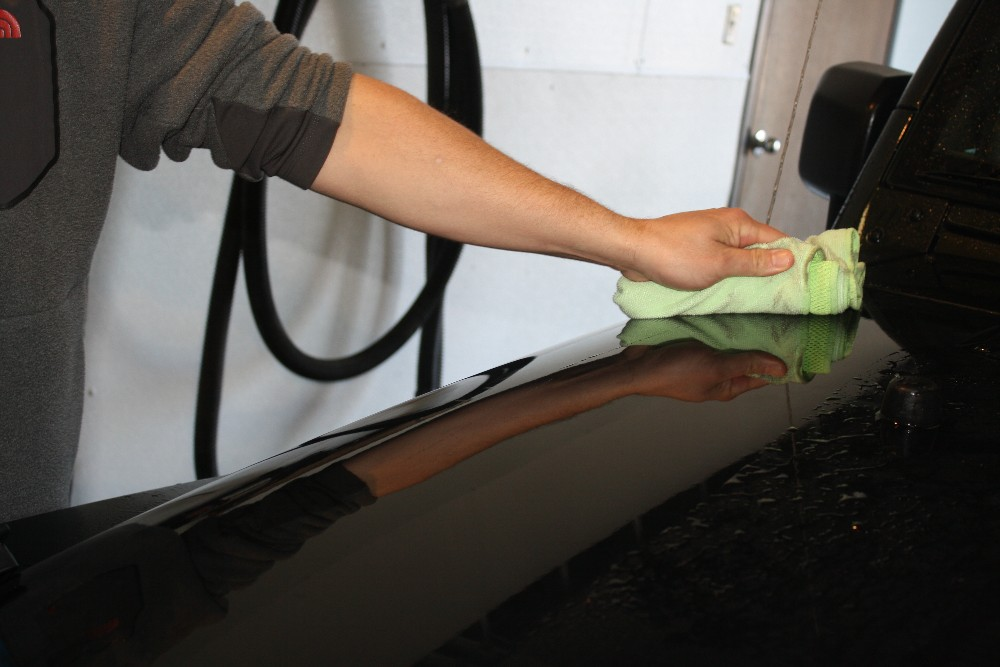 Use Microfiber Towel to Dry Vehicle