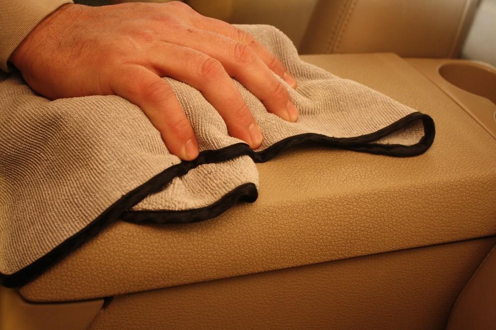 Wipe Vinyl Clean with Microfiber Towel