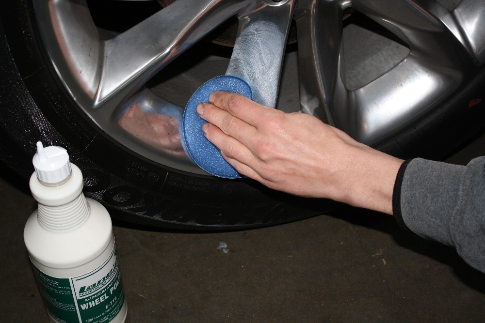 Apply Wheel Polish with Applicator
