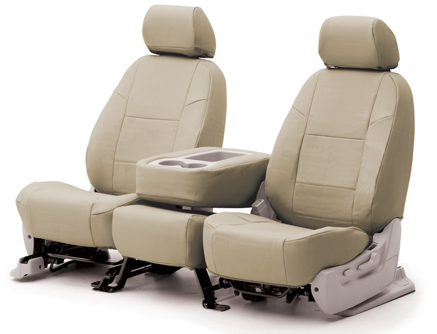Beige Leather Seat Cover